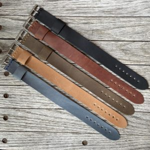 Leather NATO Watch Straps 22 MM