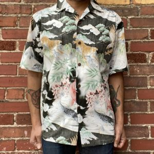 Aloha Made in Hawaii Eagles Tigers Aloha Shirt