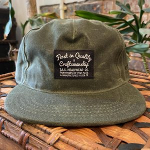The Ampal Creative Wax Olive Snapback Hat