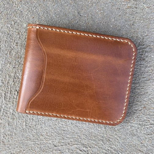 Front Pocket Billfold Tan. Front View.