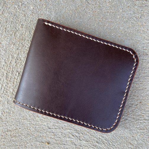 Front Pocket Billfold Brown. Back View.