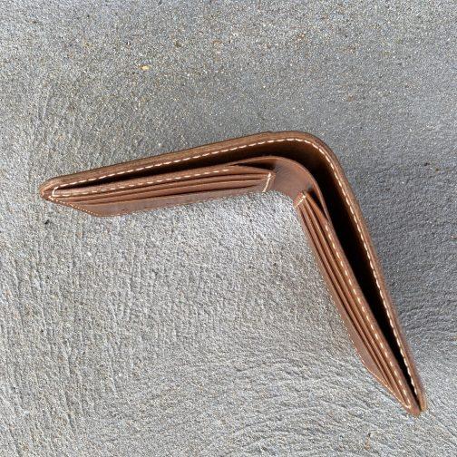 Front Pocket Billfold Tan. Top View.