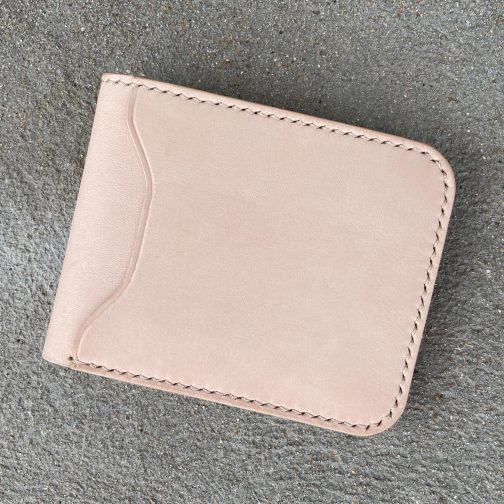 Front Pocket Billfold Natural. Front View.