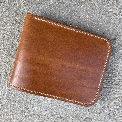 Front Pocket Billfold Tan. Back View.