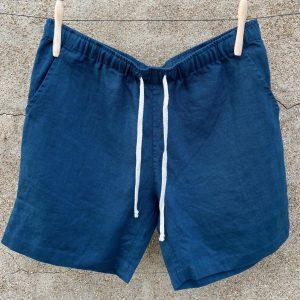 Alex Crane Bo Dusk Linen Shorts