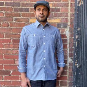 Nama Denim Light Chambray Work Shirt Indigo