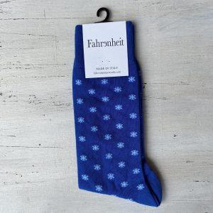 Fahrenheit NYC Snowflake Socks Blue White